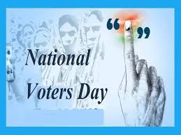 NATIONAL VOTERS' DAY-25 JANUARY